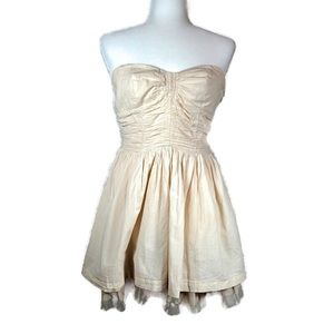 Poetry Clothing Strapless Dress- Medium